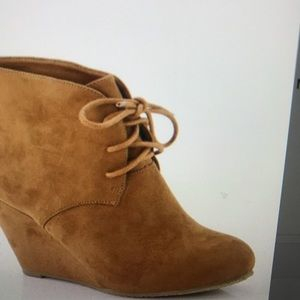 Wedge Lace Up Booties